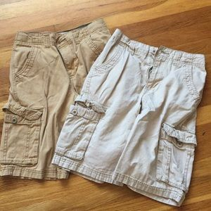 2 pr boys ARIZONA cargo shorts